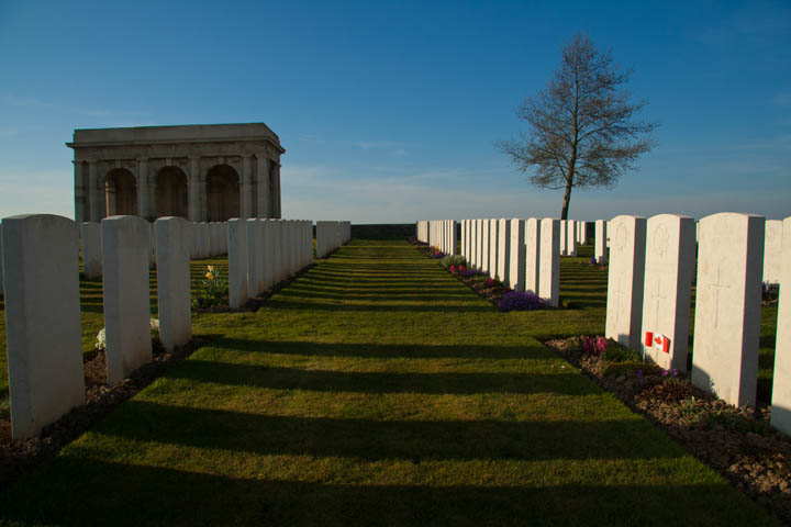 The Somme — Adanac Cemetery. (Adanac is a reversible anagram for Canada.)