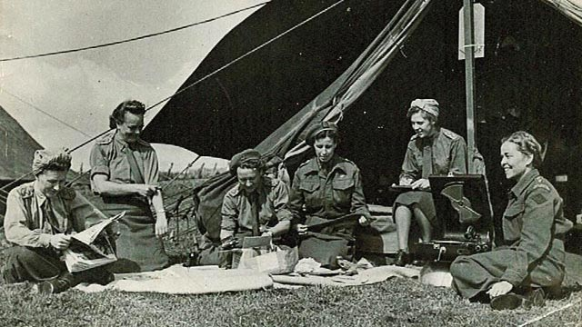Canadian nurses from Casualty Clearing Station #2 in Normandy