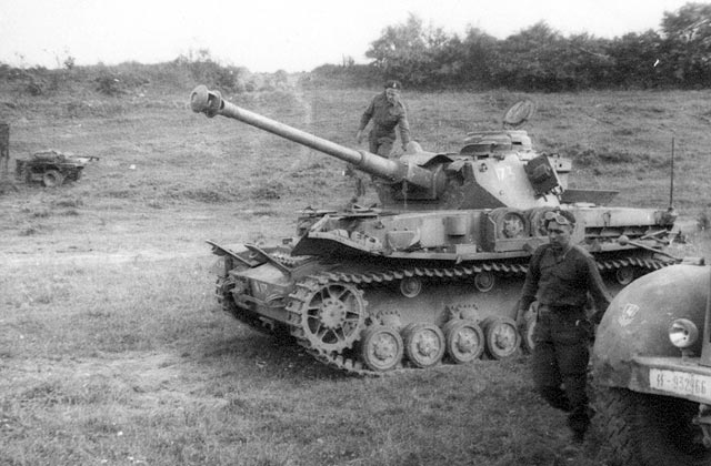 C Squadron of Sherbrooke Fusilier Regiment with a captured German Panzer